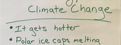Climate Problems & Goals From 3rd – 5th Grader Perspective